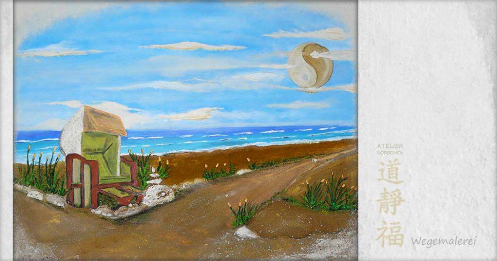 Meerbilder, Gemälde, Meer, Strandkorb, strand, Ostsee